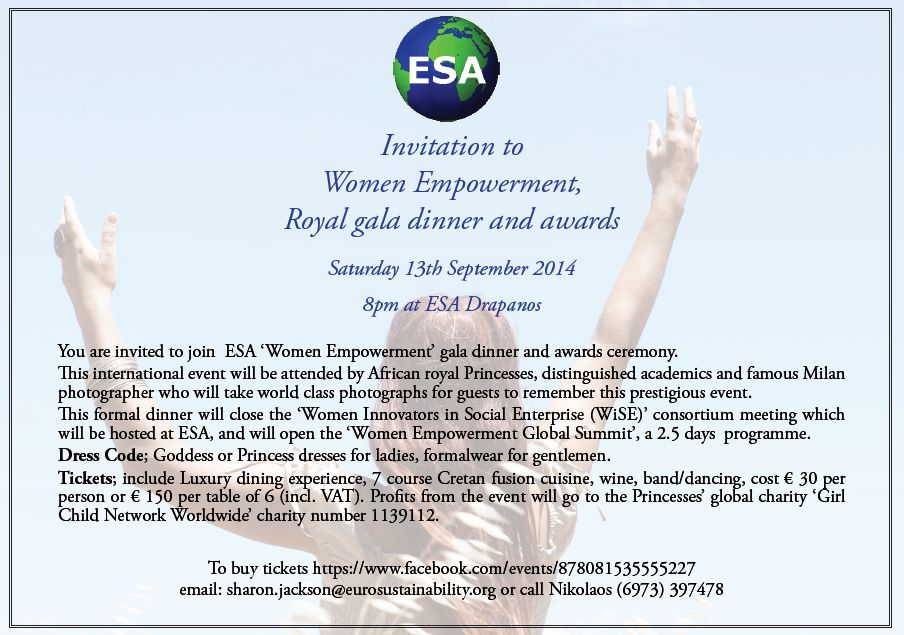 Women Empowerment invitation