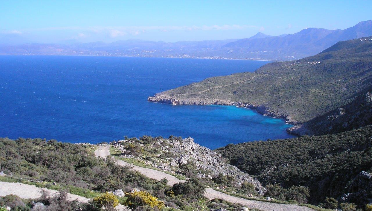 Beautiful coast near Drapanos
